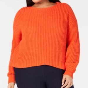 Eileen Fisher Crew Neck Crop Shaker Sweater 2X NWT
